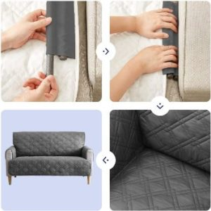 #4.Tempcore Waterproof Machine Washable Couch Covers
