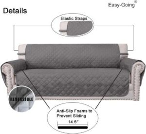 #7. Easy-Going Sofa Water-Resistant Slipcover Reversible Furniture Protector