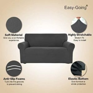 # 8. Easy-Going 1-Piece Stretch Sofa Slipcover Furniture