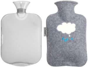 1. Gsogcax Hot Water Bottle with Soft Fleece Cover