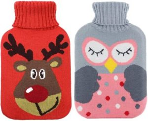 5. RUBY-Q 2 Pack Rubber Hot Water Bottle