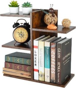 1. PAG Wood Desktop Shelf, Desk Organizer