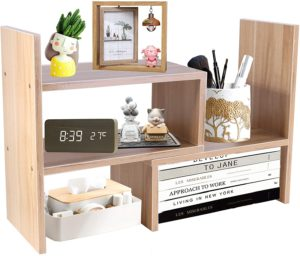 5. PENGKE Office Storage Rack, Light Brown