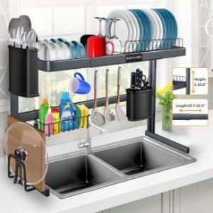1. Over The Sink Dish Drying Rack