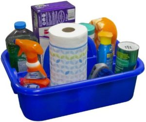 4. Akro-Mils 09185 Plastic Tote Tool And Supply Cleaning Caddy