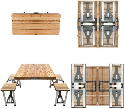 4. BIGTREE Portable Foldable Camping Picnic Table