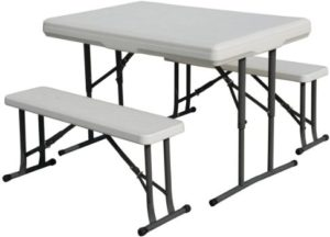8. Stansport Picnic Table and Bench Set