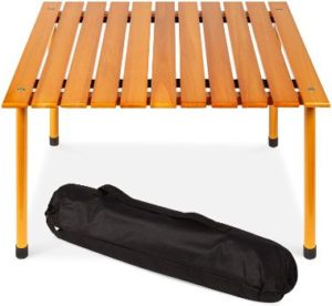 9. Best Choice Products All-Purpose Portable Wooden Table