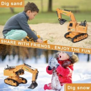 7. Excavator Toys with Sound and Lights