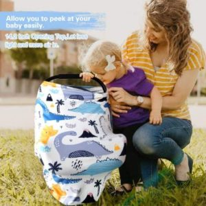 7. Stretchy Car Seat Cover for Babies