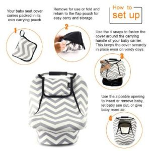 9. Stretchy Baby Car Seat Covers