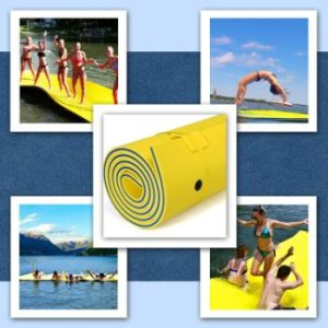7. GLACER Floating Water Mat, Tear-Resistant XPE Foam