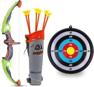 9. GoBroBrand Bow and Arrow Set for Kids